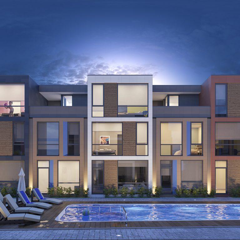 жилой комплекс таунхаусов с бассейном Поло Виллас Парклэйн в Батуми