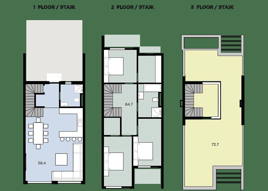 план этажа дома поло виллас гринфилд